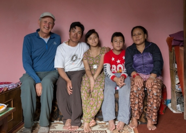Lakpa's family and me